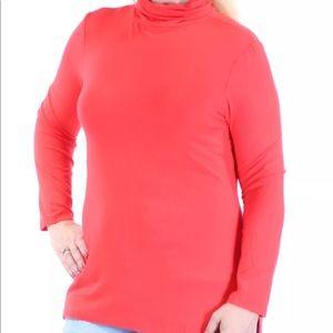 Tommy Hilfiger Long Sleeve Orange Slitted Top XL